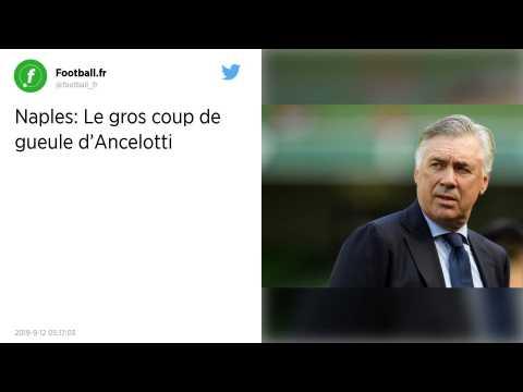 Serie A : Carlo Ancelotti?: «?Je suis consterné?» par l'état des vestiaires de San Paolo