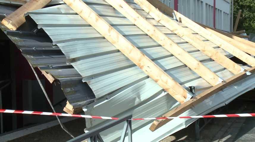 Thumbnail Le toit du Lycée Notre Dame de Ménimur s'est envolé