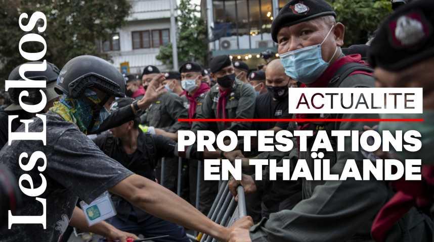 Illustration pour la vidéo En Thaïlande, des milliers de manifestants pro-démocratie défient le pouvoir