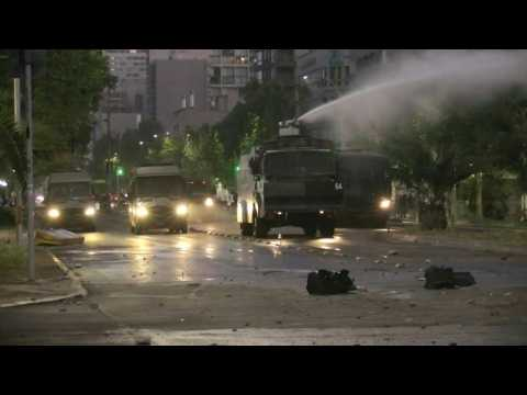Chilean police fire tear gas, water cannons at anti-government protesters