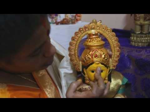 Hindus in Bangalore celebrate festival of Navratri