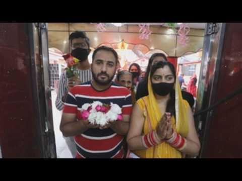 Hindu devotees celebrate Navratri festival in India