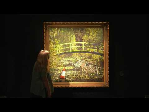 Banksy's 'Show me the Monet' to be auctioned in London