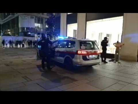 Police operation in central Vienna after terror attack