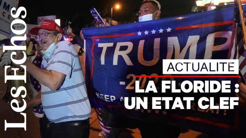 Illustration pour la vidéo En Floride, le discours anti-socialiste de Trump a fonctionné