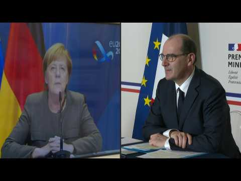 French PM Castex talks Covid-19, terrorism with Merkel via video