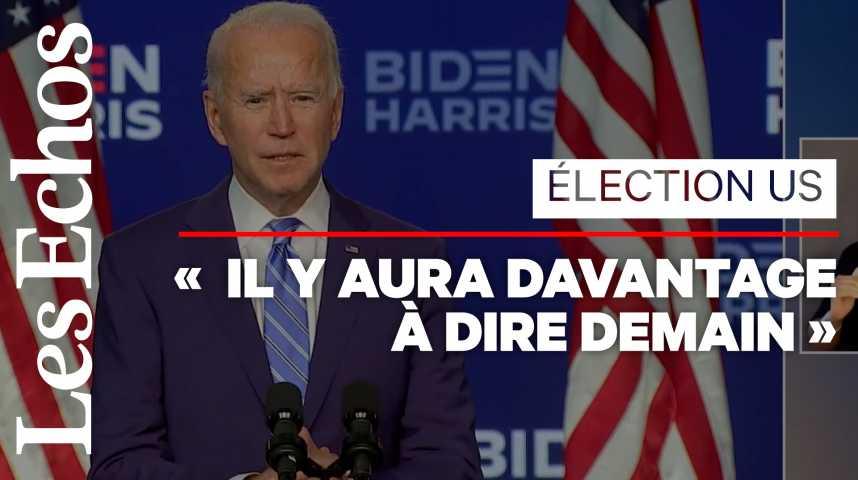 Illustration pour la vidéo «A l'issue du décompte des voix, nous serons les gagnants», affirme Joe Biden