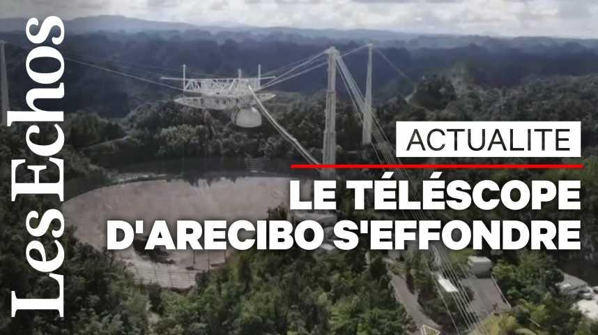 Illustration pour la vidéo Le télescope géant d'Arecibo s'est effondré