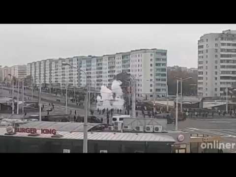 Police use stun grenade in Minsk to disperse anti-Lukashenko demonstration