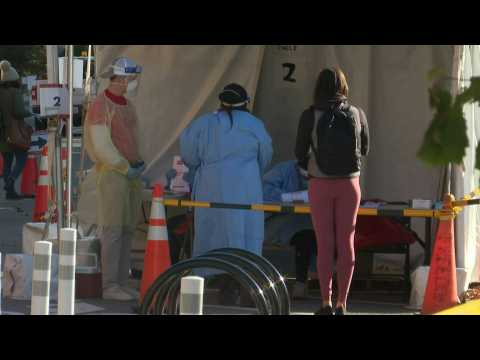 Scene at Covid-19 testing site in Washington as cases rise across the US