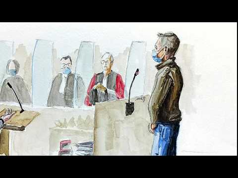 Trial of Frenchman who admits killing wife, day 3: courtroom sketches