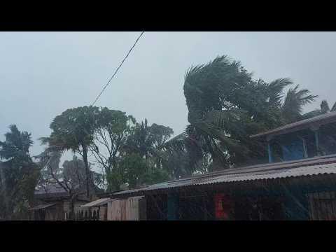 Strong winds, heavy rain before hurricane Iota makes landfall in Nicaragua