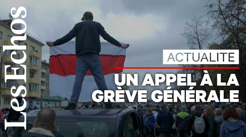 Illustration pour la vidéo En Biélorussie, un appel à la grève générale