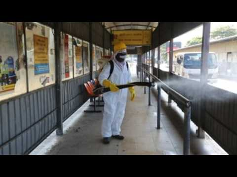 Disinfection tasks continue in capital of Sri Lanka as new clusters emerge
