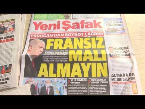 Turks react to Erdogan's call for a boycott of French products