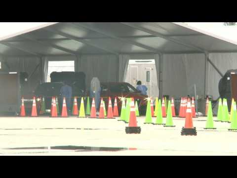 Floridians line up at COVID-19 drive-through testing center