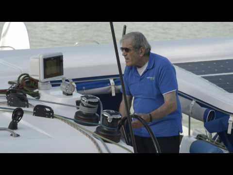 80-year-old sailor embarks on round-the-world trip with electric boat