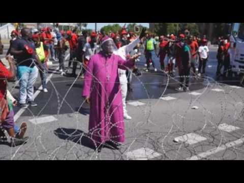 Protest against racism in Cape Town
