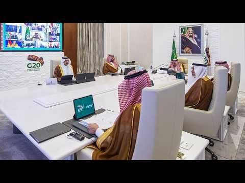 Saudi acrobatic planes perform flyover to mark start of G20 summit
