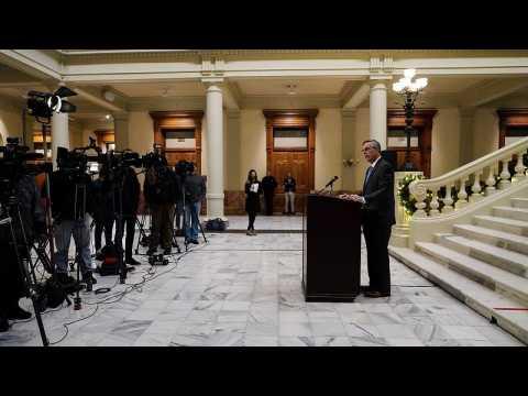 In crucial electoral state Georgia's governor certifies Democrat win