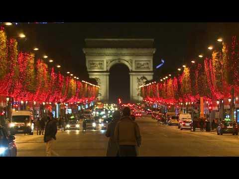 Paris launchs the Christmas season lights on the Champs Elysees