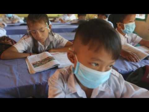 Schools reopen after months of pandemic in Cambodia