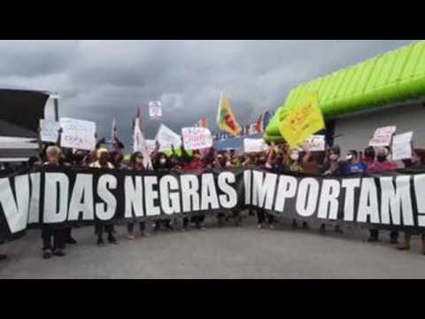 Protests over death of black man in a supermarket continue in Brazil