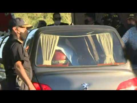Maradona funeral cortege arrives at cemetery near Buenos Aires