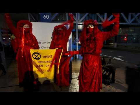 Climate change activists take energy giant Shell to court in The Hague over emissions