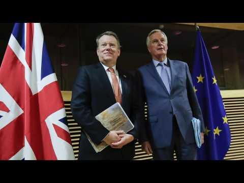 EU chief Brexit negotiator Michel Barnier arrives in London for face-to-face trade talks