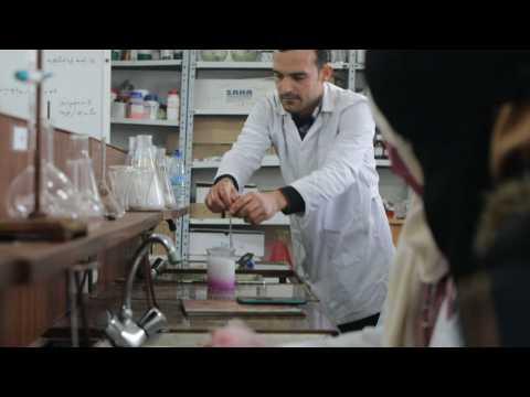 Syrian fresh medicine graduates prepare to battle Covid