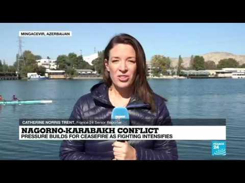Nagorno-Karabakh conflict: Turkish foreign minister visits Azerbaijan