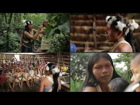Ecuador's indigenous leader Nenquimo reacts to Time Magazine recognition