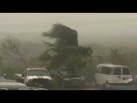 Strong winds as Hurricane Delta makes landfall in Cancun