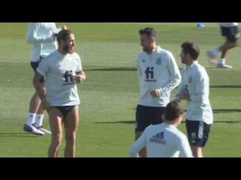 Spanish national team gears up for match against Switzerland