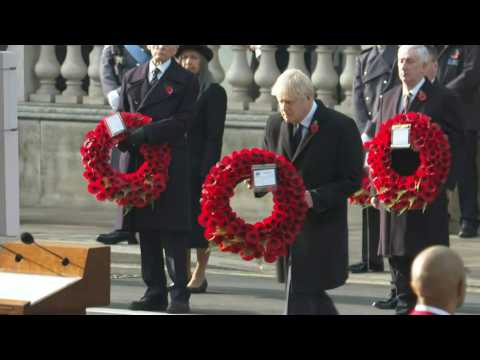 Britain pays tribute to UK war dead on Remembrance Day