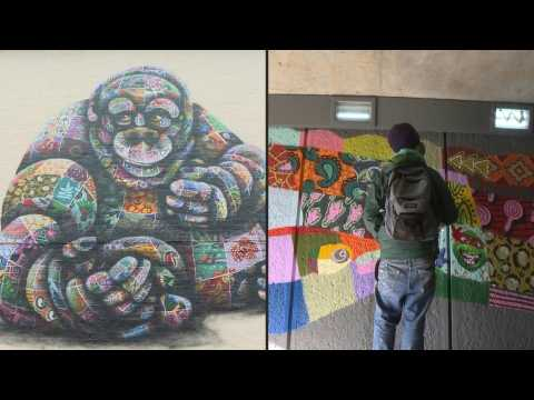 London artist helps endangered animals with colourful murals