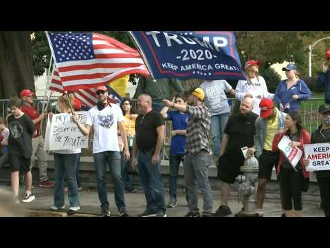 Atlanta: Trump supporters gather outside state capitol as Biden elected president