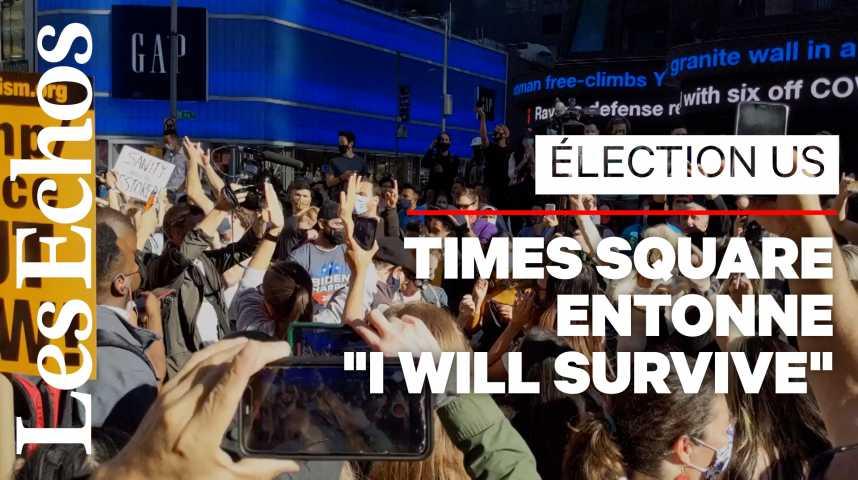 Illustration pour la vidéo Scènes de liesse aux Etats-Unis après l'annonce de la victoire de Joe Biden