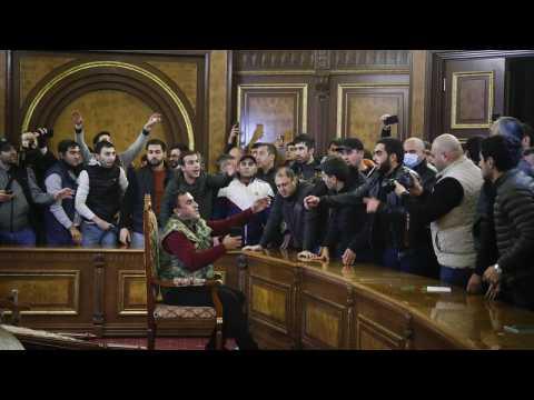 Furious Armenians storm government buildings while Baku celebrates new Nagorno-Karabakh deal