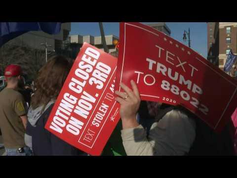 Trump supporters demand vote recount at Detroit ballot center