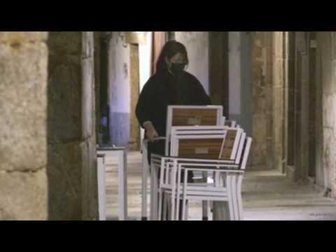 Spanish city of Santiago de Compostela closes bars, restaurants