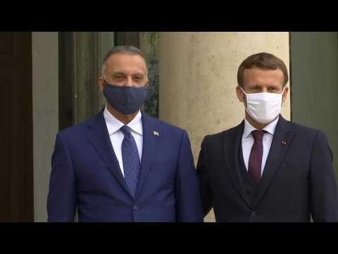 France's Macron welcomes Iraqi PM al-Kazimi at the Elysée Palace