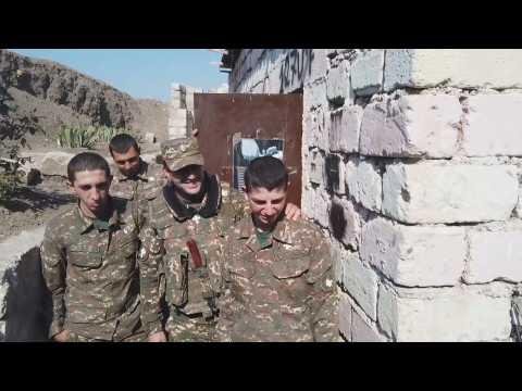 Nagorno Karabakh, fighting between Armenian and Azerbaijani forces