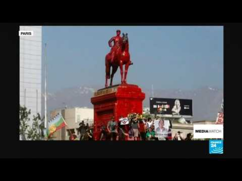 Chile's national monument at the epicentre of protests