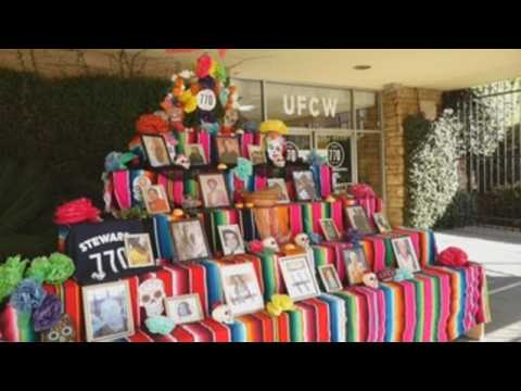 Day of the Dead altar in Los Angeles honors essential workers killed by Covid-19