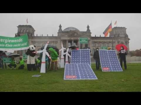 Climate activists march in Berlin
