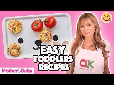 Toddler meals: Make Chicken Curry Puree, Frittata Muffins & Mini Meatballs with Annabel Karmel