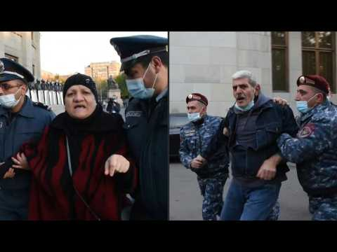 Protesters detained in Armenia's capital after Nagorno-Karabakh peace deal