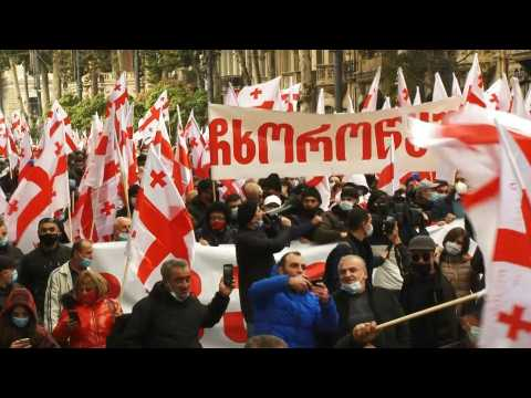 Tbilisi: Hundreds of protesters demand snap parliamentary polls